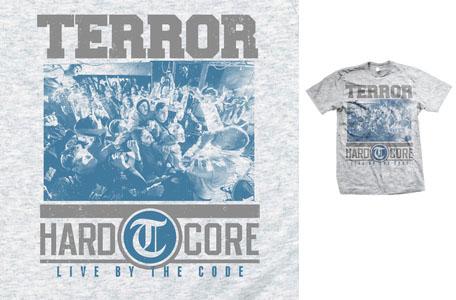 Terror- Hardcore on a grey shirt