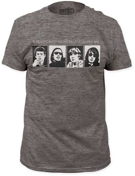 Velvet Underground- Band Pics on a heather tri-blend ringspun cotton shirt (Sale price!)