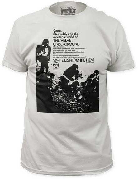 Velvet Underground- Come, Step Softly on a vintage white ringspun cotton shirt