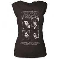 Velvet Underground- Band Pics on a vintage black girls cap sleeve shirt (Sale price!)