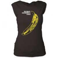 Velvet Underground- Banana on a vintage black girls cap sleeve shirt