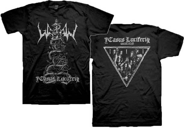 Watain- Casus Lucifer on front & back on a black shirt