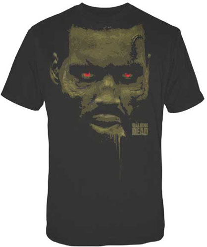 Walking Dead- Red Eye Face on a black shirt (Sale price!)