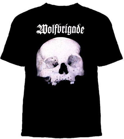 Wolfbrigade- Skull on a black shirt (Sale price!)