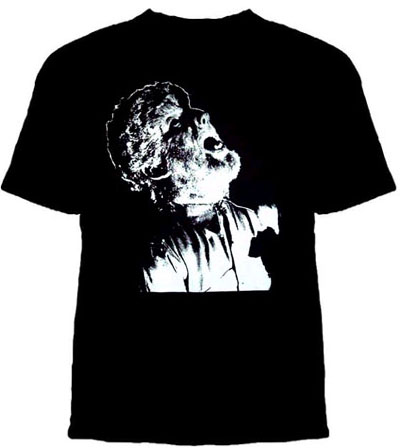 Wolfman- Picture on a black YOUTH sized shirt