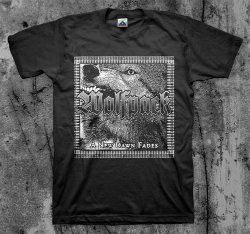 Wolfpack- A New Dawn Fades on a black YOUTH sized shirt