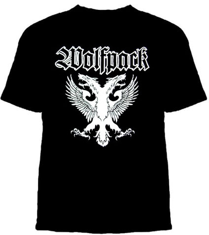 Wolfpack- Eagle on a black YOUTH SIZED shirt (Sale price!)