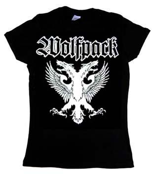Wolfpack- Eagle on a black girls fitted shirt (Sale price!)