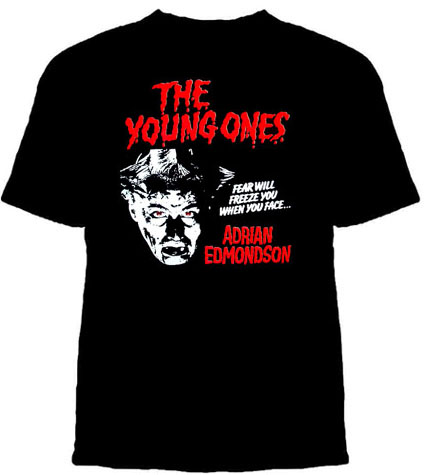 Young Ones- Adrian Edmondson on a black shirt