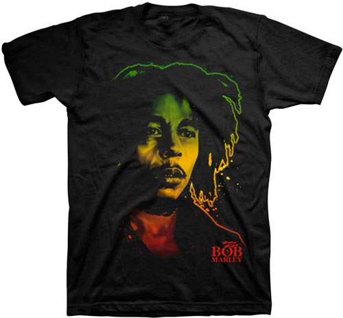 Bob Marley- Rasta Face on a black shirt (Sale price!)