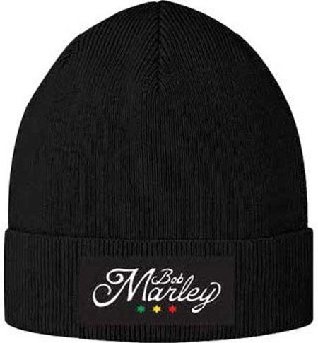 Bob Marley- 3 Star Logo beanie