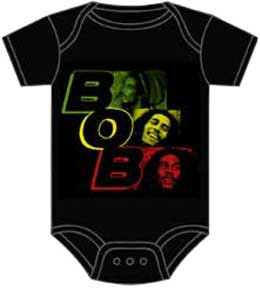 Bob Marley- BOB on a black onesie (Sale price!)