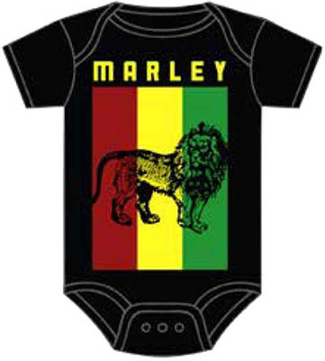 Bob Marley- Lion on a black onesie