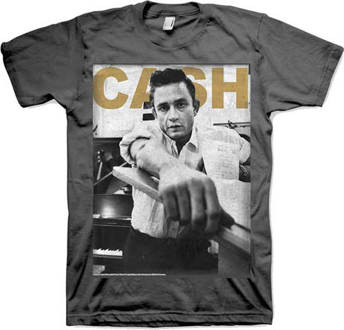Johnny Cash- Studio Pic on a charcoal shirt (Sale price!)