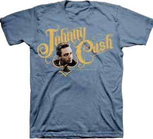 Johnny Cash- Spade Logo on a blue shirt (Sale price!)