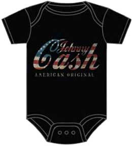 Johnny Cash- American Original on a black onesie (S-6m, M- 12m, L- 18m) (Sale price!)