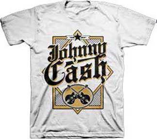 Johnny Cash- Guitars on a white shirt (Sale price!)
