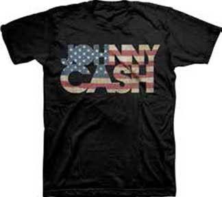 Johnny Cash- Americana Logo on a black shirt (Sale price!)