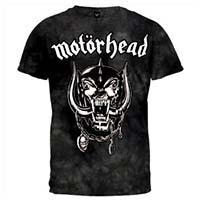 Motorhead- Snaggletooth on a black tie dye shirt