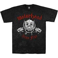 Motorhead- Iron Fist on a black tie dye shirt