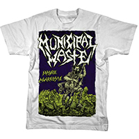 Municipal Waste- Massive Aggressive on a white shirt