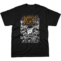 Napalm Death- From Enslavement To Obilteration on a black shirt