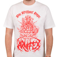 Carnifex- Die Without Hope on a white shirt (Sale price!)
