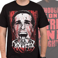 Carnifex- Bateman on front, Quote on back on a black shirt