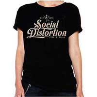 Social Distortion- Rock N Roll on a black girls fitted shirt