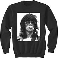 Rolling Stones- Keith on a black crew neck sweatshirt