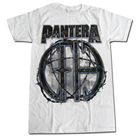 Pantera- 81 on a white ringspun cotton shirt