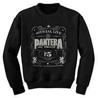 Pantera- 101 Proof on a black crew neck sweatshirt