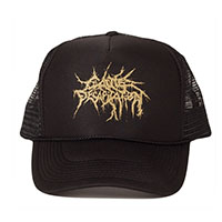 Cattle Decapitation- Logo on a black trucker hat