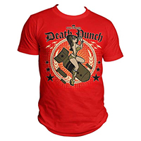 Five Finger Death Punch- Bomber Girl on a red shirt (Sale price!)