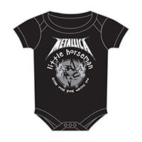 Metallica- Little Horseman on a black one piece snap bottom baby shirt (S=0-6 mo, M=6-12 mo, L=12-18 mo, XL=18-24 mo) (Sale price!)