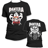 Pantera- Kills on front, Cowboys From Hell on back on a black shirt