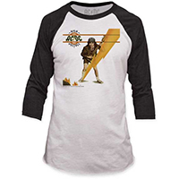 AC/DC- High Voltage on a white/black 3/4 sleeve shirt (Sale price!)