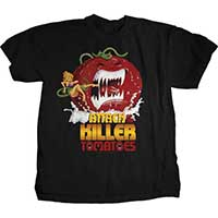 Attack Of The Killer Tomatoes- Tomato & Girl on a black shirt