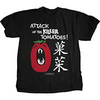 Attack Of The Killer Tomatoes- Japanese on a black shirt
