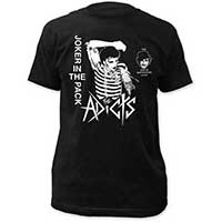 Adicts- Joker In The Pack on a black ringspun cotton shirt
