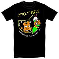 Apu Tang on a black guys shirt by Thrillhaus - SALE