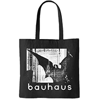 Bauhaus- Bela Lugoi's Dead on a black tote bag