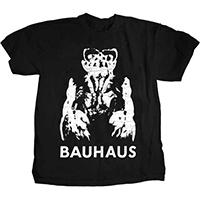 Bauhaus- Gargoyle on a black ringspun cotton shirt