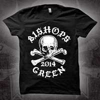 Bishops Green- Skull on a black girls fitted shirt (Sale price!)