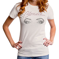 Blondie- Glare on an ivory girls fitted shirt by Goodie Two Sleeves (Sale price!)
