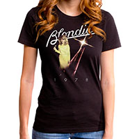 Blondie- 1978 Pic on a black girls fitted shirt by Goodie Two Sleeves