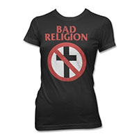 Bad Religion- Distressed Crossbuster on a black girls shirt