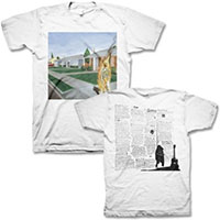 Bad Religion- Suffer Album Cover on front, Lyrics on back on a white shirt