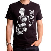 David Bowie- New Era Rock on a black ringspun cotton shirt by Goodie Two Sleeves (Sale price!)