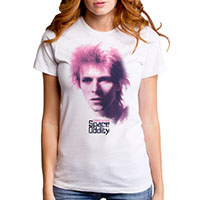 David Bowie- Space Oddity on a white girls fitted shirt by Goodie Two Sleeves (Sale price!)